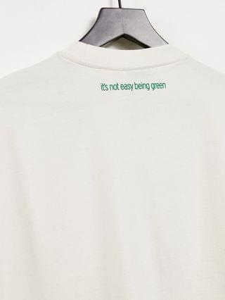 adidas Originals x Disney t-shirt with Rex from Toy Story print in off white