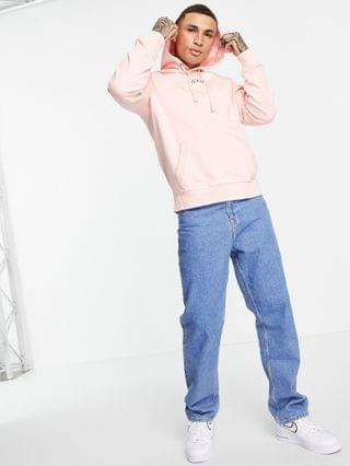 MEN Guess hoodie in pink with chest logo