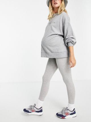 WOMEN Maternity over the bump cotton leggings in heather gray