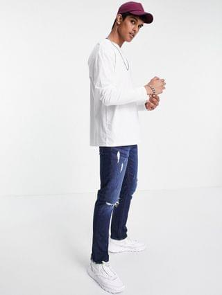 New Look long sleeve t-shirt in white