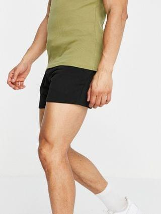 New Look shorter length jersey shorts in black
