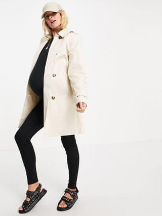 WOMEN Maternity trench coat in stone
