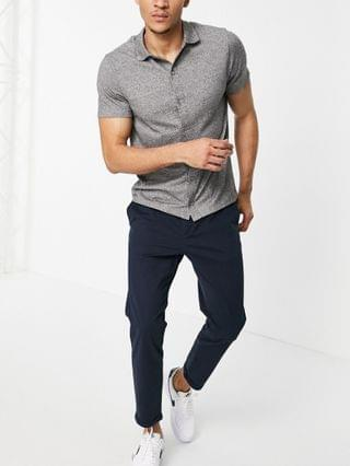 New Look pleated chino pants in navy