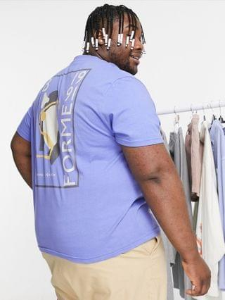 MEN relaxed t-shirt in blue with back art style print