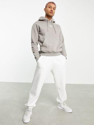 Calvin Klein Jeans new iconic essential logo hoodie in stone