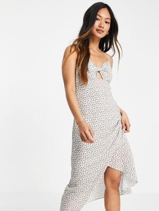 WOMEN French Connection floral ditsy midaxi dress in white