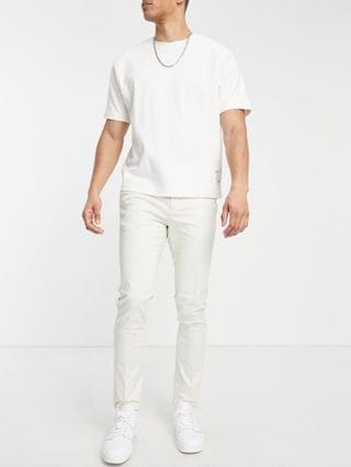 New Look skinny chino pants in stone