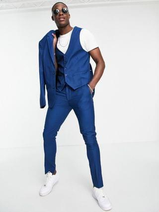 New Look bright blue vest in blue - suit 14