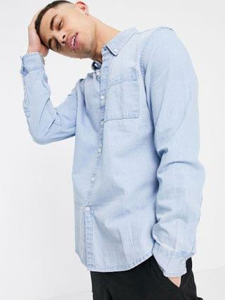 New Look Denim Shirt In Light Blue