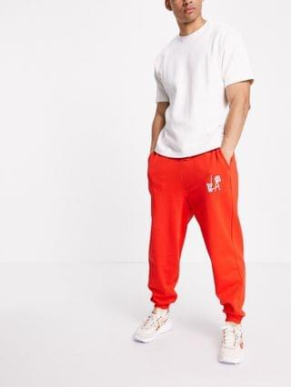 sweatpants with Death Row Records print in red - part of a set