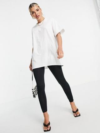 WOMEN ASYOU oversized T-shirt with phone graphic in white