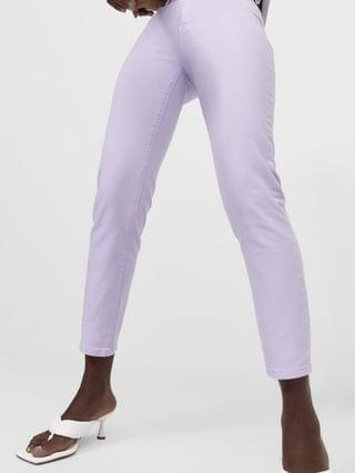 WOMEN Stradivarius slim mom jeans with stretch in lilac