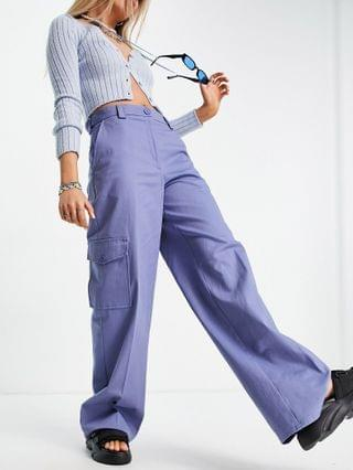 WOMEN COLLUSION high waist pants with cargo pockets