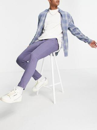 MEN super skinny cropped chinos in blue