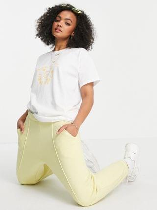 WOMEN Daisy Street relaxed t-shirt with happy ray of sunshine print