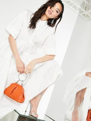 WOMEN EDITION oversized tiered shirt dress in white