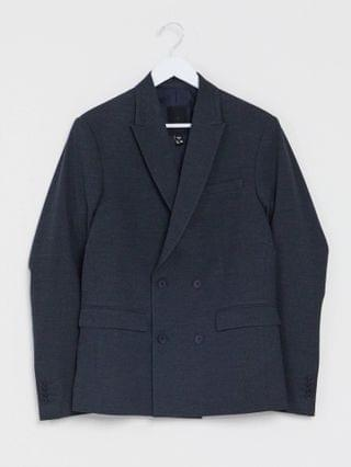 New Look slim cropped suit jacket and pants in navy