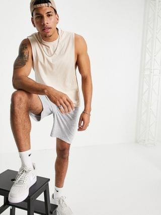 organic relaxed fit tank in beige