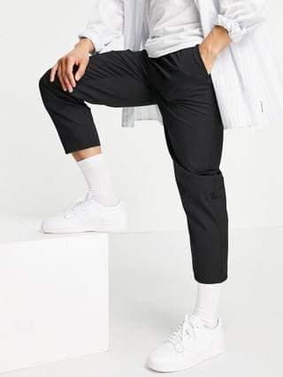 MEN Reclaimed Vintage inspired cropped relaxed pant in black