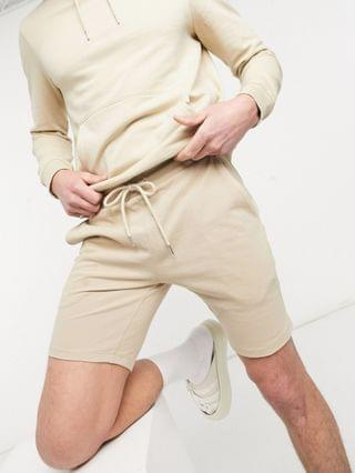 two-piece relaxed pique revere polo in beige