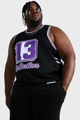 MEN Plus Size Mesh Collection Basketball Vest