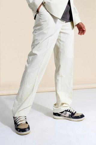 MEN Relaxed Man Branded Suit Trousers