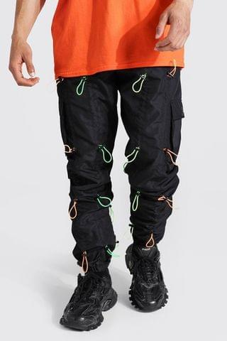 MEN Loose Fit All Over Toggle Cargo Trouser