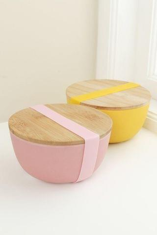 WOMEN Bamboo Bowl With Lid