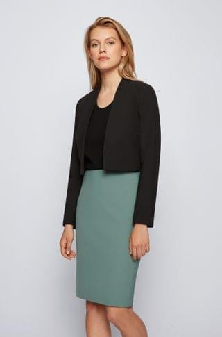 WOMEN Regular-fit cropped jacket in stretch fabric