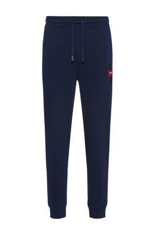 MEN French-terry tracksuit bottoms with logo and calligraphy artwork