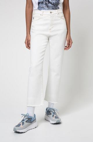 WOMEN Relaxed-fit jeans in organic-cotton denim with stretch