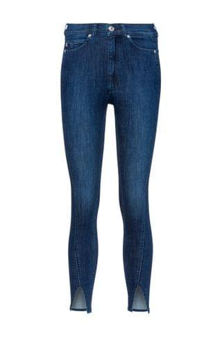 WOMEN LOU slim-fit jeans in stretch denim with twisted seams