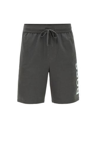 MEN Pajama shorts in stretch cotton with printed logo