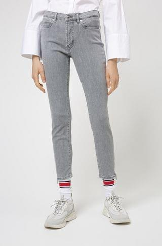 WOMEN CHARLIE super-skinny-fit jeans with zipped hems