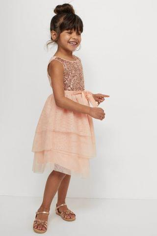 KIDS Sequined Tulle Dress
