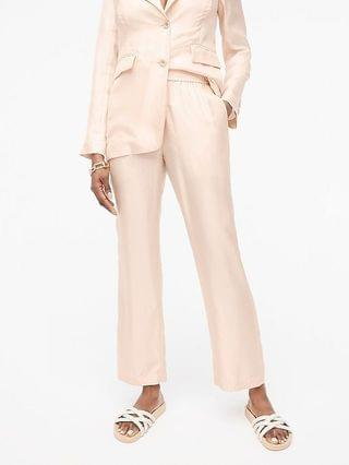 WOMEN Collection pull-on wide-leg silk twill pant