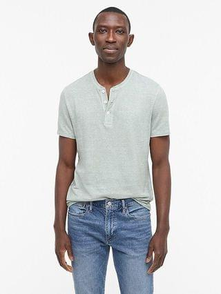 MEN Short-sleeve hemp-organic-cotton henley