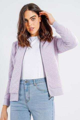 WOMEN Quilted Bomber Jacket