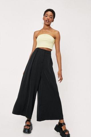 WOMEN High Waisted Pleat Front Wide Leg Pants