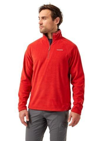MEN Craghoppers Red Corey Half Zip Fleece