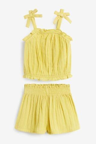 KIDS Yellow Strappy Top And Short Co-ord