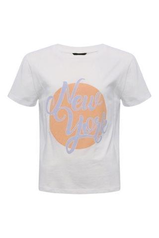 KIDS Kylie Teen White New York Slogan T-Shirt