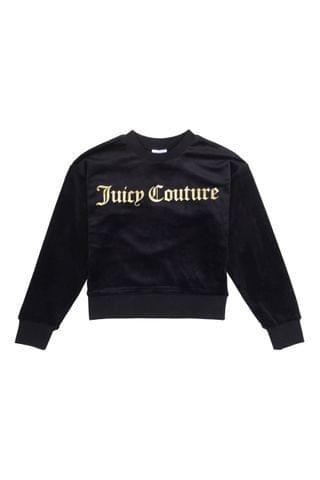 KIDS Juicy Couture Juicy Velour Crew Sweater