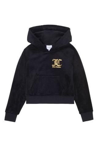 KIDS Juicy Couture Juicy Velour Raglan Hoody