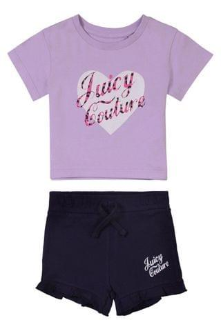 KIDS Juicy Couture Heart T-Shirt and Short Set