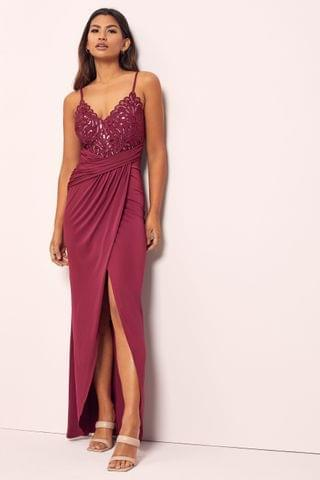 WOMEN Lipsy Embroidered Lace Cami Maxi Dress