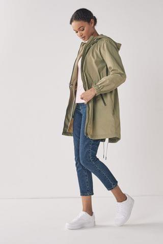 WOMEN GANT Aloe Green Light Wind Parka Jacket