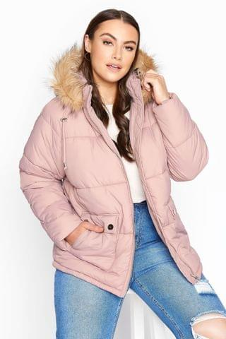 WOMEN Yours Cropped Padded Puffer Jacket