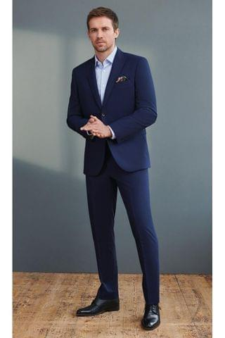 MEN Bright Blue Signature Puppytooth Suit Trousers