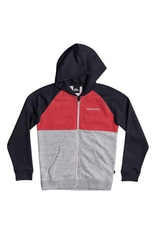 KIDS Quiksilver Red Easy Day Zip Up Hoodie